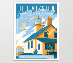 Old Mission Michigan Art Print