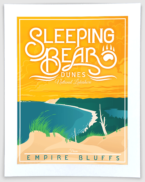 Sleeping Bear Dunes #1 - Michigan Travel Art Print
