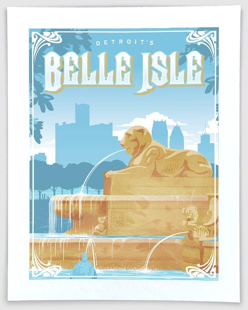 Belle Isle - Detroit, Michigan Travel Art Print