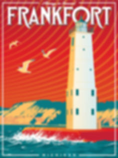 Frankfort Michigan travel poster