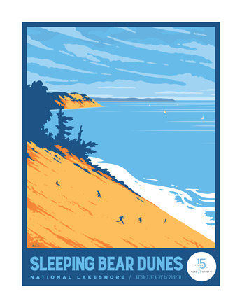 Sleeping Bear Dunes - Pure Michigan 15th Anniversary Commemorative Print