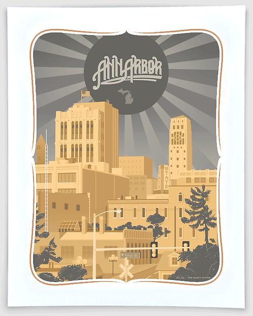 Ann Arbor Liberty - Michigan Travel Art Print