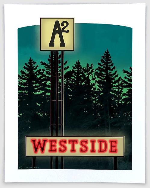 West Side Ann Arbor - Michigan Travel Art Print