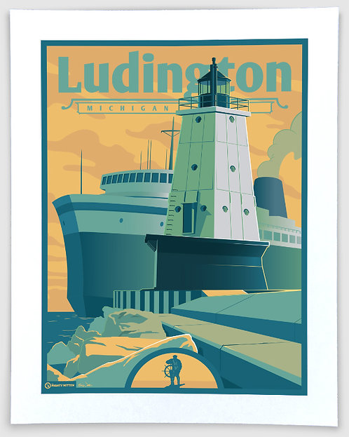 Ludington - Michigan Travel Art Print