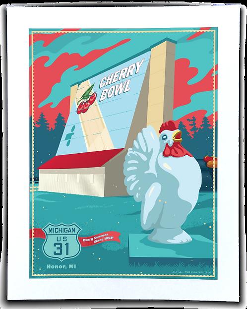 Cherry Bowl - Michigan Travel Art Print