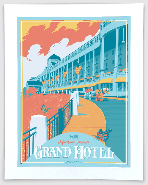 Grand Hotel - Michigan Travel Art Print