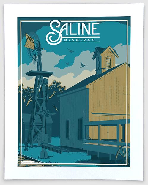 Saline - Michigan Travel Art Print