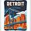 Thumbnail: Detroit Skyline - Michigan Travel Art Print