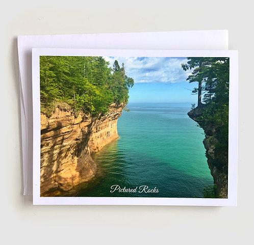Pictured Rocks - Michigan Greeting Card