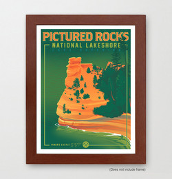 Pictured Rocks Travel Poster