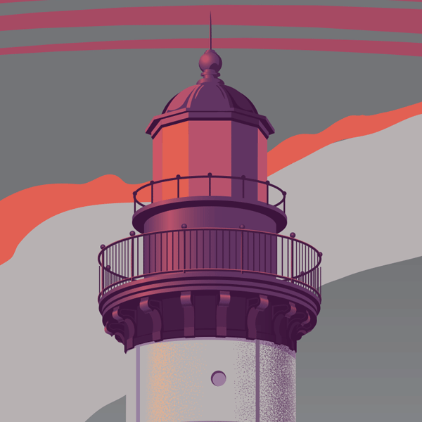 Michigan Lighthouse Art Print