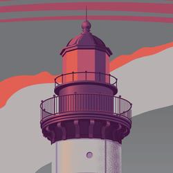 Michigan Lighthouse Art Print