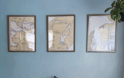 Set of Three (3) Nautical Charts