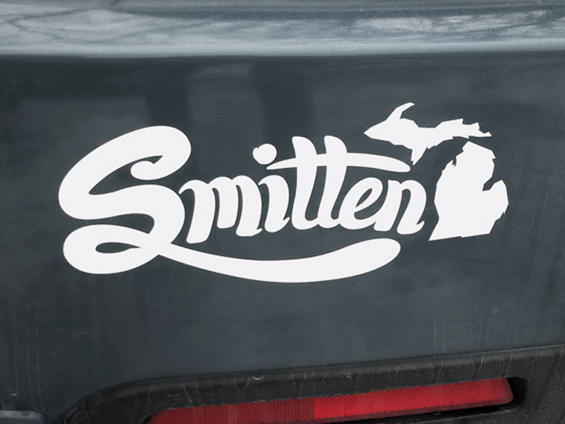 Smitten Sticker