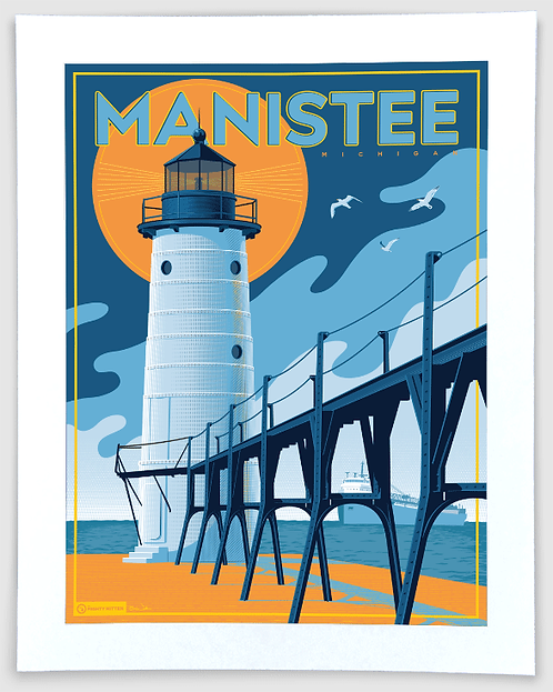 Manistee - Michigan Travel Art Print