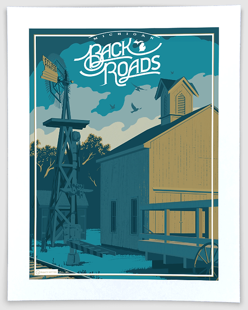 Back Roads - Michigan Travel Art Print