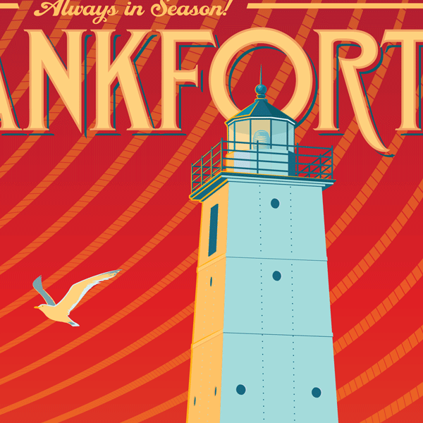Frankfort, Michigan Travel Poster