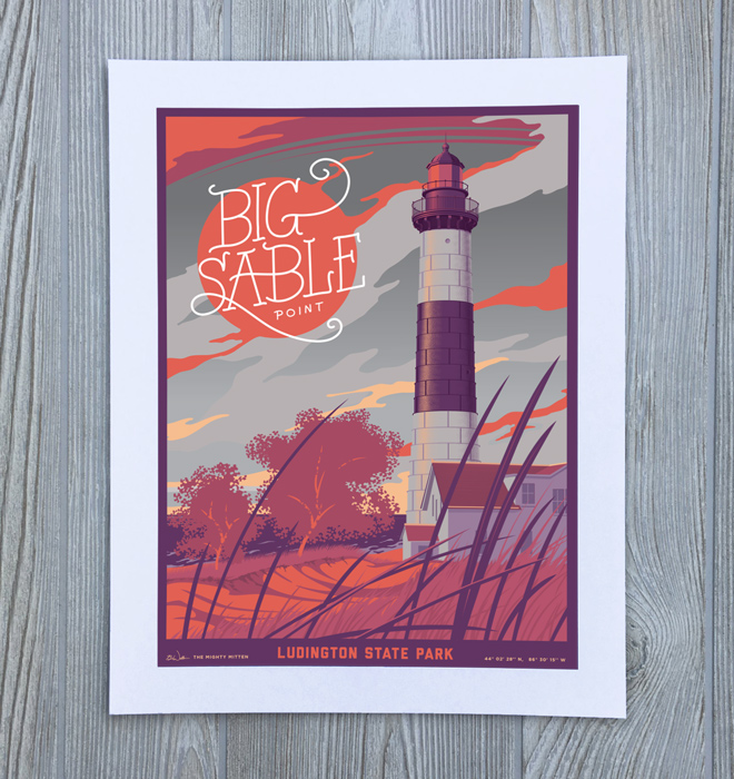 Ludington Michigan Art Print