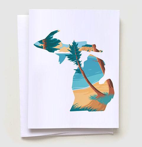 Beach Day - Michigan Greeting Card