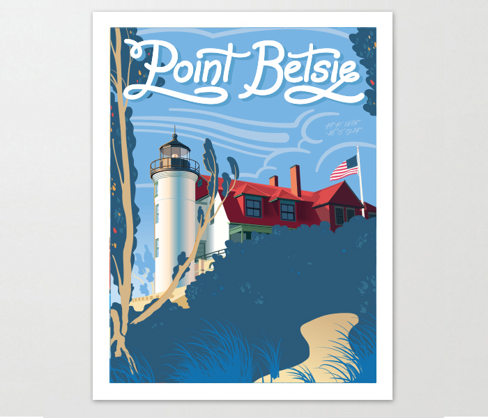 Point Betsie Michigan Art Print