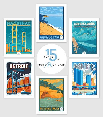 Pure Michigan 15th Anniversary - Complete Collection (6 Prints)