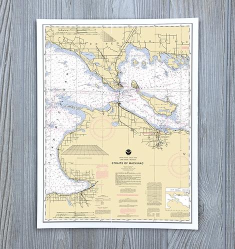 Mackinac Straits Chart - Michigan Nautical Chart