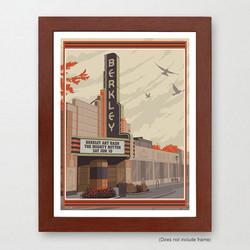 Berkley Michigan Art Print