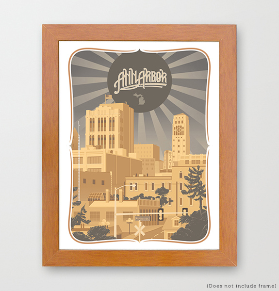 Ann Arbor Michigan Art Print