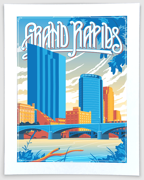 Grand Rapids - Michigan Travel Art Print