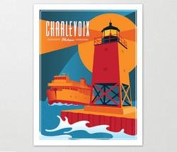 Charlevoix Michigan Travel Poster