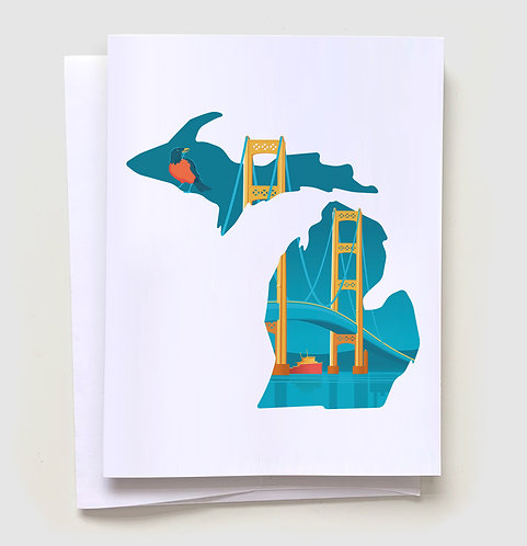Mighty Mac - Michigan Greeting Card