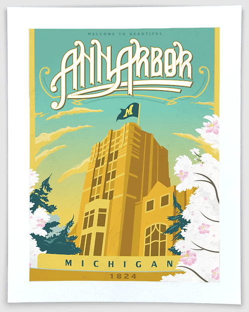Ann Arbor Union - Michigan Travel Art Print
