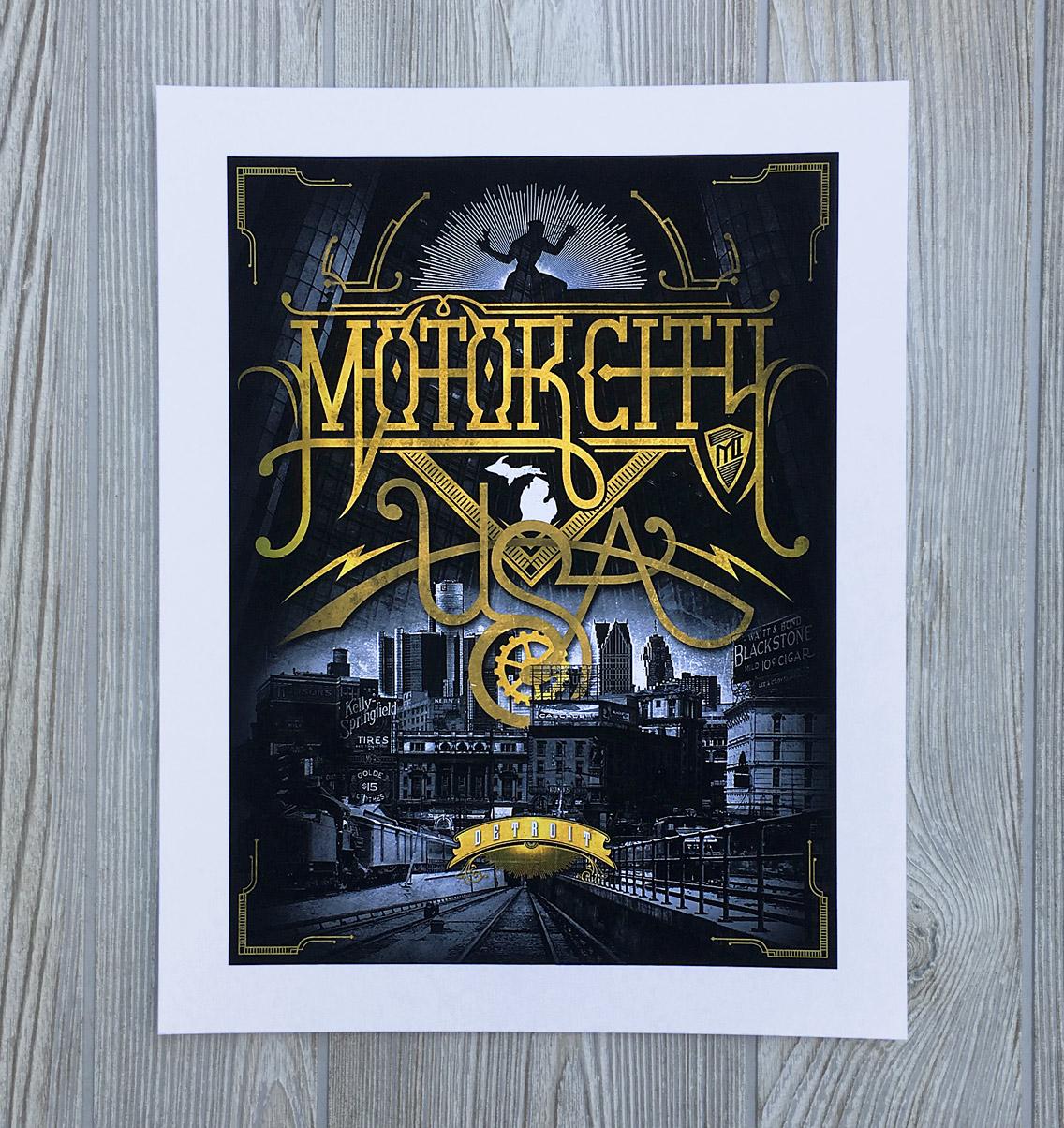 Detroit travel poster
