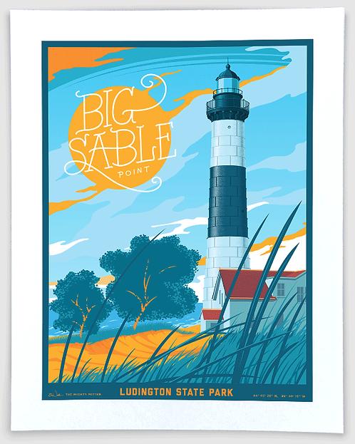 Big Sable Light, Ludington State Park - Michigan Travel Art Print
