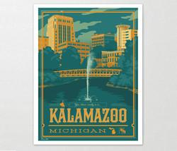 Kalamazoo Travel Art Print