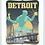 Thumbnail: Spirit of Detroit - Michigan Travel Art Print