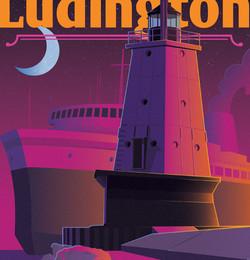 Ludington Michigan Art Print