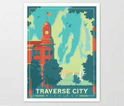 Traverse City Michigan Art Print