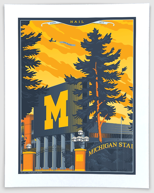 Michigan Stadium - Michigan Travel Art Print