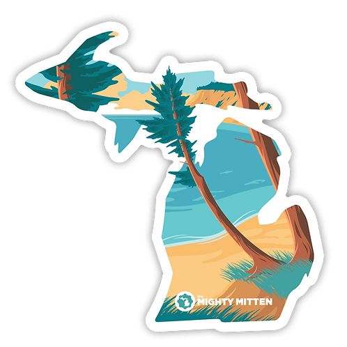 "Lake Michigan Sticker - 3x3"" + 4x4"" Michigan Stickers (FREE SHIPPING)"