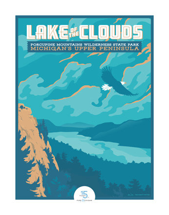 Lake of the Clouds - Pure Michigan 15th Anniversary Commemorative Print