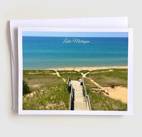 Beachbound - Michigan Greeting Card
