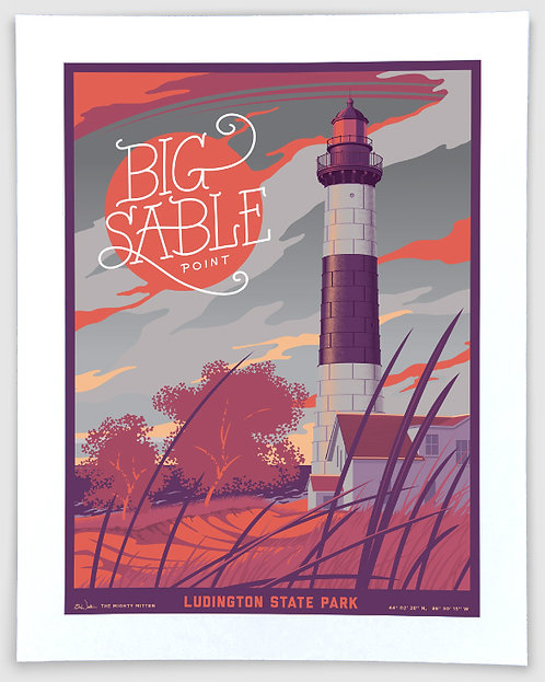 Big Sable Point, Ludington State Park - Michigan Travel Art Print