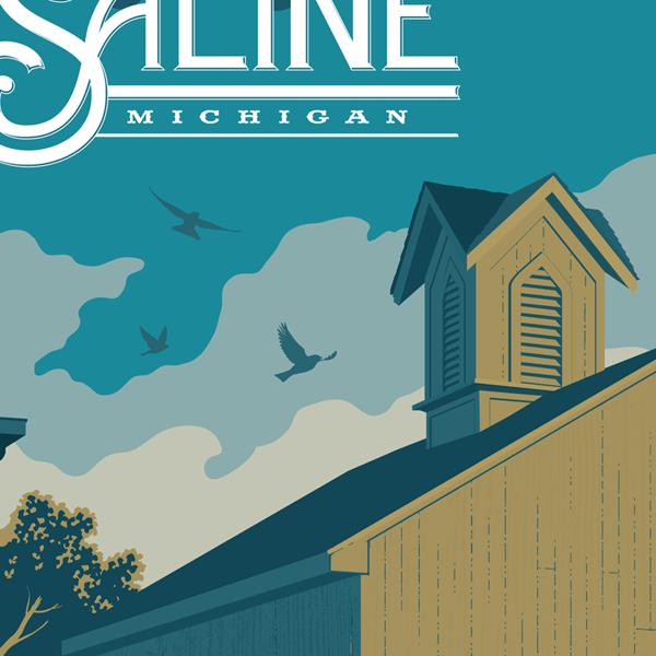 Saline Travel Poster