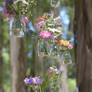 Altar floral suspendido