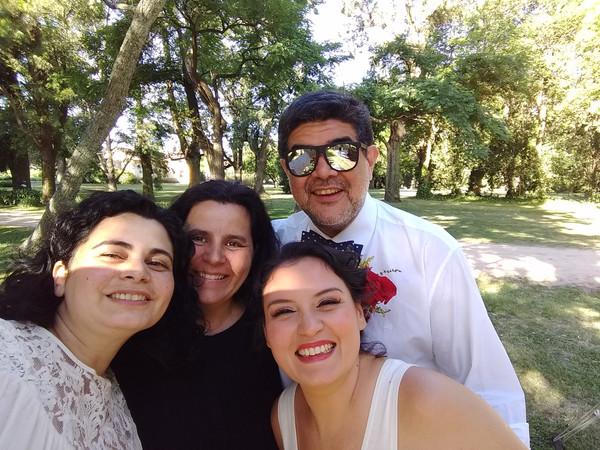 En plena boda, con Xana y Cristian