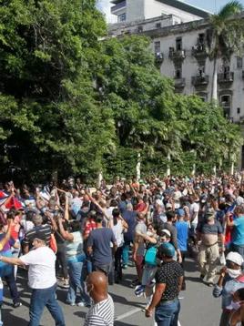 Cubans protest against the regime, America rejoices.
