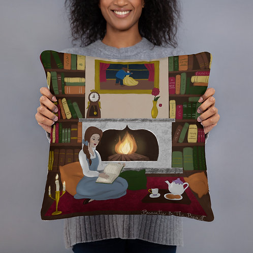 Beauty and The Beast Pillow