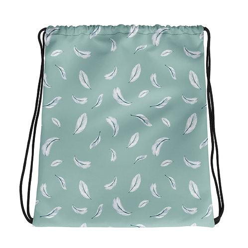 Drawstring bag - Feather Pattern