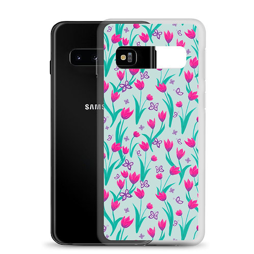 Samsung Case - Tulips and Butterflies